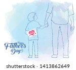 Happy Father\'s Day. Hand Drawn...