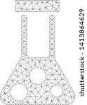 mesh chemical flask polygonal... | Shutterstock .eps vector #1413864629