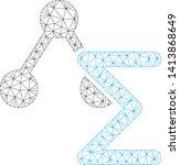mesh chemical formula polygonal ... | Shutterstock .eps vector #1413868649