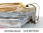 a file folder with documents... | Shutterstock . vector #141387034