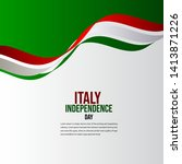 happy italy independence day... | Shutterstock .eps vector #1413871226