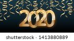 2020 numbers poster or banner... | Shutterstock .eps vector #1413880889
