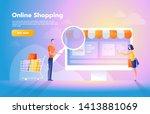 online payment using... | Shutterstock .eps vector #1413881069