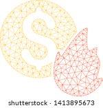 mesh burn money polygonal icon...   Shutterstock .eps vector #1413895673