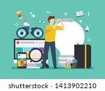 life of an illustrator  web... | Shutterstock .eps vector #1413902210
