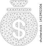 mesh cash harvest sack... | Shutterstock .eps vector #1413902306
