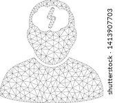 mesh brainstorm polygonal 2d... | Shutterstock .eps vector #1413907703