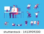 business person working on... | Shutterstock .eps vector #1413909200
