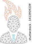 mesh burn businessman head...   Shutterstock .eps vector #1413909239