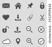 interface icons. sticker design....   Shutterstock .eps vector #1413909626