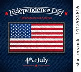the fourth of july  american... | Shutterstock .eps vector #1413935816