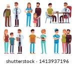 doctors and patients. medicine... | Shutterstock .eps vector #1413937196