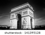 triumphal arch   black and white | Shutterstock . vector #141395128
