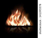 vector illustration of burning... | Shutterstock .eps vector #141395578