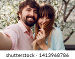 close up portrait of lovely... | Shutterstock . vector #1413968786