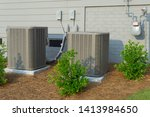 hvac units connected to... | Shutterstock . vector #1413984650