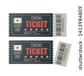 cinema ticket vector... | Shutterstock .eps vector #1413984809