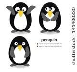 penguin on white background.... | Shutterstock .eps vector #141400330