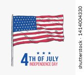 happy 4th of july independence... | Shutterstock .eps vector #1414004330