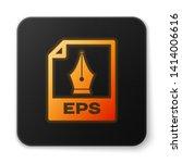 orange glowing eps file... | Shutterstock .eps vector #1414006616