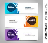 abstract vector banners.modern... | Shutterstock .eps vector #1414013243
