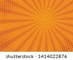 retro comic rays yellow... | Shutterstock .eps vector #1414022876
