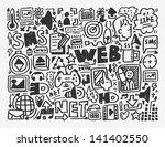 doodle network element cartoon... | Shutterstock .eps vector #141402550