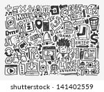 doodle network element cartoon... | Shutterstock .eps vector #141402559