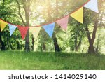 colorful bunting flags hanging... | Shutterstock . vector #1414029140