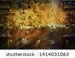 grunge texture  dark metal... | Shutterstock . vector #1414031063