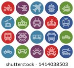round dotted icons set of some... | Shutterstock . vector #1414038503