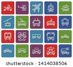 rounded square dotted icons set ... | Shutterstock . vector #1414038506