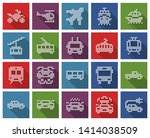 square dotted icons set of some ... | Shutterstock . vector #1414038509