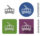 dotted icon of tolleybus in... | Shutterstock . vector #1414038530
