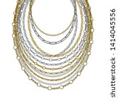 Golden And Silver Chain Neck...