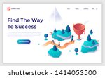landing page template with... | Shutterstock .eps vector #1414053500