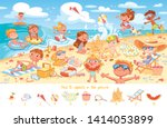 find 10 objects in the picture. ... | Shutterstock .eps vector #1414053899