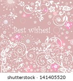 greeting abstract card | Shutterstock .eps vector #141405520