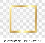 gold shiny glowing frame with... | Shutterstock .eps vector #1414059143