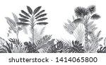 tropical vintage botanical... | Shutterstock .eps vector #1414065800