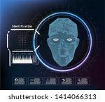 face digital recognition  id... | Shutterstock .eps vector #1414066313