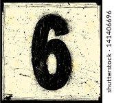 grunge number | Shutterstock .eps vector #141406696
