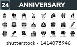 anniversary icon set. 24 filled ... | Shutterstock .eps vector #1414075946