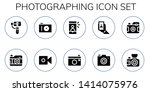 photographing icon set. 10... | Shutterstock .eps vector #1414075976