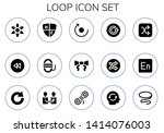 loop icon set. 15 filled loop... | Shutterstock .eps vector #1414076003
