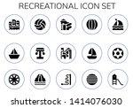recreational icon set. 15... | Shutterstock .eps vector #1414076030