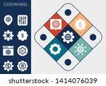 cogwheel icon set. 13 filled... | Shutterstock .eps vector #1414076039