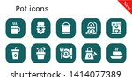 pot icon set. 10 filled pot... | Shutterstock .eps vector #1414077389