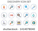 discovery icon set. 15 flat... | Shutterstock .eps vector #1414078040