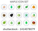 maple icon set. 15 flat maple... | Shutterstock .eps vector #1414078079